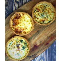 Trio of Swiss Quiche
